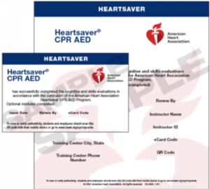 Heartsaver CPR AED 2020 Sample Ecard